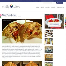 Weight Watchers Friendly Recipes: Mini Taco Bowls