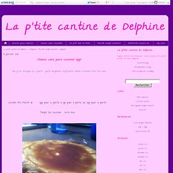 Recette weight watchers .. propoint - La p'tite cantine de Delphine