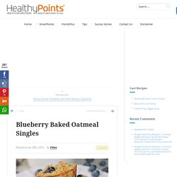 Blueberry Baked Oatmeal Singles