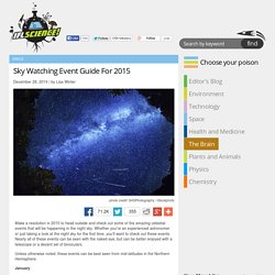 Sky Watching Event Guide For 2015