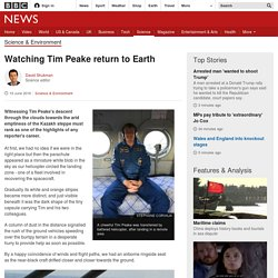 Watching Tim Peake return to Earth