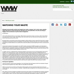 Waste Security through lack of accurate tracking/auditing