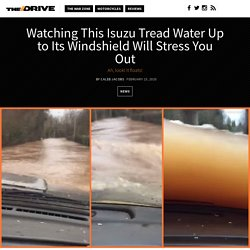 Watching This Isuzu Tread Water Up to Its Windshield Will Stress You Out