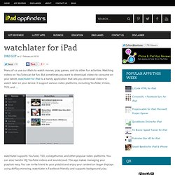 watchlater for iPad
