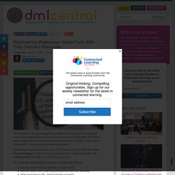 Howard Rheingold: Check Facts With Crap Detection Resources - DML Central