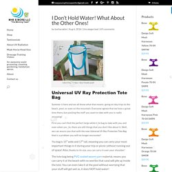 Universal uv ray protection tote bag - mhssuperblog
