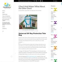 Universal uv ray protection tote bag- mhssuperblog