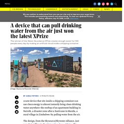 The Water Abundance XPrize winner makes water from air