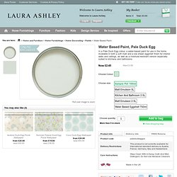 Water Based Paint, Pale Duck Egg at LAURA ASHLEY
