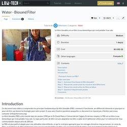 Water - Biosand Filter
