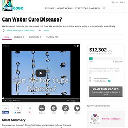 Can Water Cure Disease?