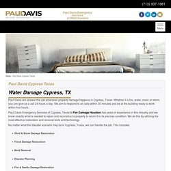 Water Damage Cypress