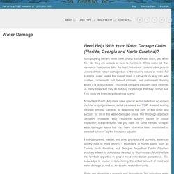 Leading Public Adjuster For Water Damage Claim Port Saint Lucie, FL