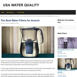 The 12 Best Water Filter for Arsenic Reviews in 2021
