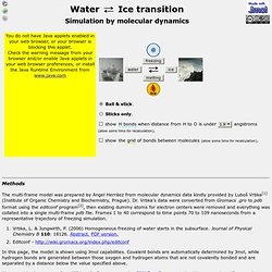 Water - ice transition