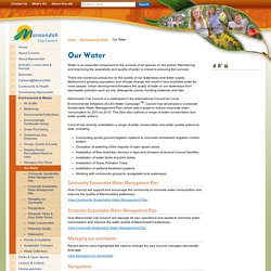 Our Water - Maroondah City Council