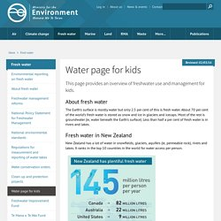 Water page for kids
