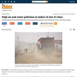 High air and water pollution in India's 41 tier-II cities