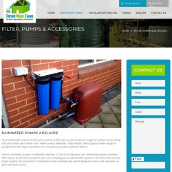 Water Pumps Filtration Adelaide