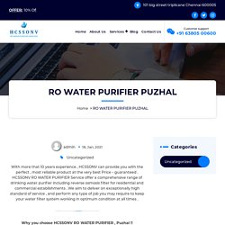 RO water purifier in Puzhal @+91 63 80 500 600