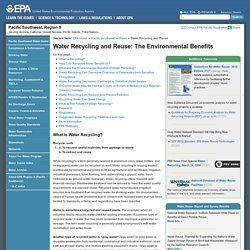 Water Recycling and Reuse