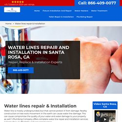 Water lines repair & Installation