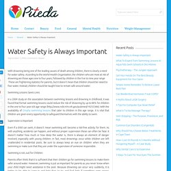 Water Safety is Always Important