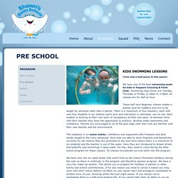 Learn Children's Swimming Pool Lessons at Shawn's Swim School