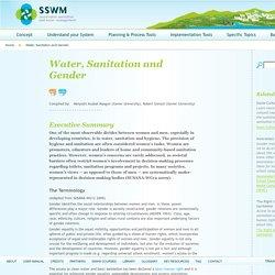 Water, Sanitation and Gender