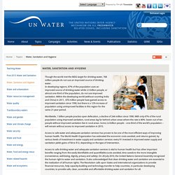 UN-Water: Water, Sanitation and Hygiene