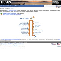 The USGS Water Science School: All about water!
