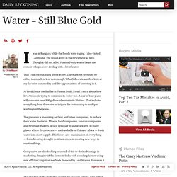 Water - Still Blue Gold