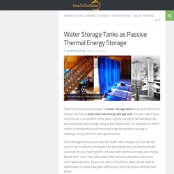 Water Storage Tank Thermal Energy Storage