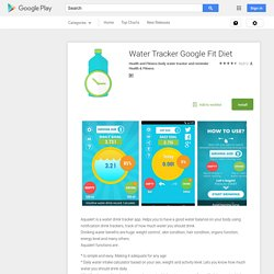 Water Tracker Google Fit Diet – Android Apps on Google Play