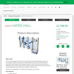 Water Wall - WSP107 - Creative Play UK
