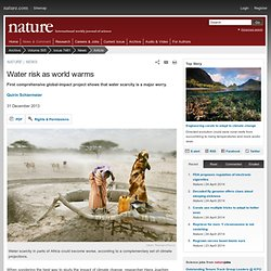 Water risk as world warms