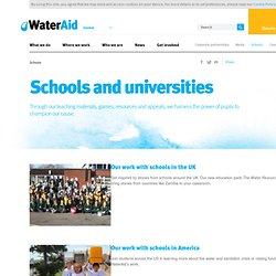 About WaterAid Water educational resources