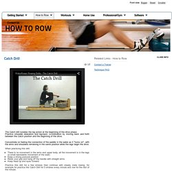 WaterCoach - Learn How to Row - Catch Drill
