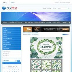 Watercolor Eucalyptus 1187860 » Free Download Photoshop Vector Stock image Via Torrent Zippyshare From psdkeys.com