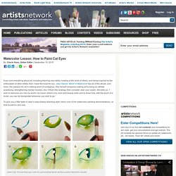 Watercolor Lesson: How to Paint Cat Eyes - Artist's Network