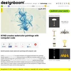 KYND creates watercolor paintings with computer code