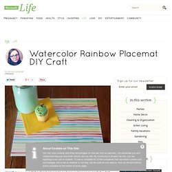 Watercolor Rainbow Placemat DIY Craft