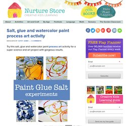 Salt, glue and watercolor paint process art activity