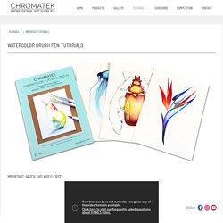 WATERCOLOR BRUSH PEN TUTORIALS - Chromatek Professional Art Supplies