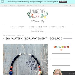 DIY Watercolor Statement Necklace -Flamingo Toes