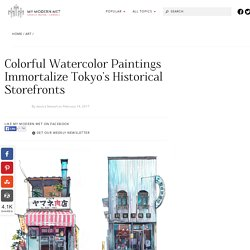 Colorful Watercolor Paintings of Tokyo's Historical Storefronts