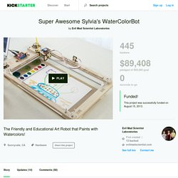 Super Awesome Sylvia's WaterColorBot by Evil Mad Scientist Laboratories
