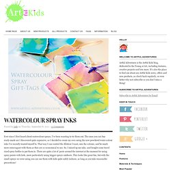 Artful Adventures » Blog Archive » Watercolour Spray Inks
