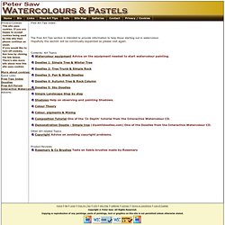 Watercolours & Pastels: Free Art Tips - Index