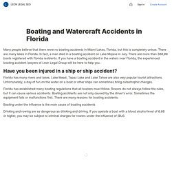 Boating and Watercraft Accidents in Florida — Teletype